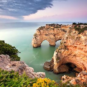 DinoLand by Hugo Marques - Landscapes Waterscapes ( waterscape, algarve, sunrise, seascape, portugal )