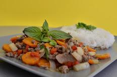 BASILIC THAI Sauté Poulet ou Porc