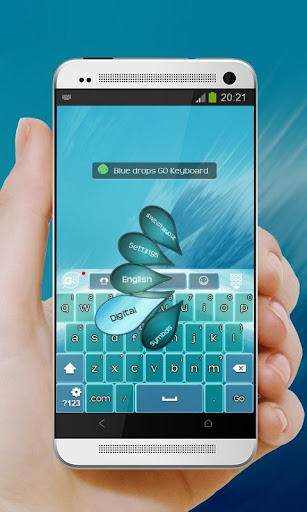 ブルー滴Burū shizuku GO Keyboard|玩個人化App免費|玩APPs