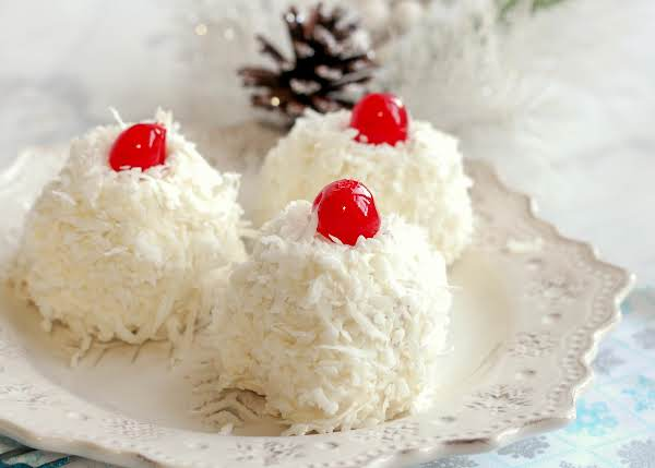 Three Snowballs On A Plate.