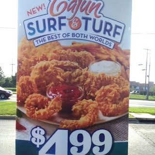 Popcorn Chicken and Shrimp.