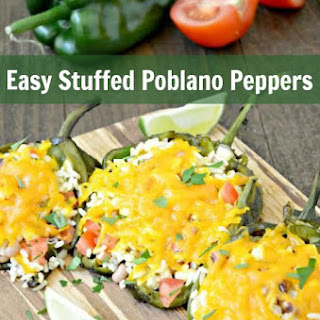 Easy Stuffed Poblano Peppers.