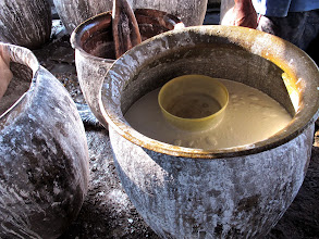 Photo: rice batter for making rice paper spring roll wrappers