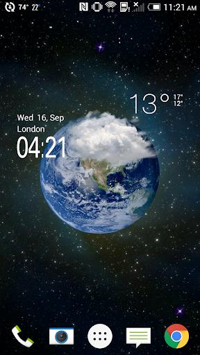 HD透明天氣時鐘,高度仿真天氣圖標,身臨其境感受天氣