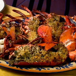 Roast Lobster with Bread Topping.