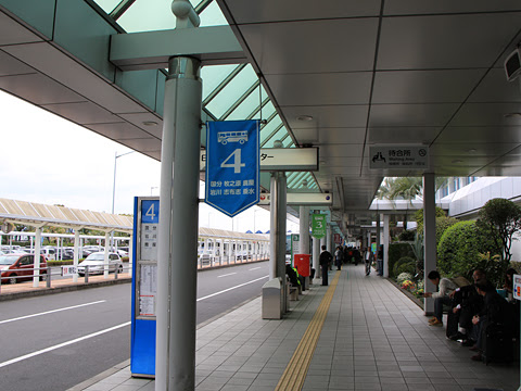 鹿児島空港国内線ターミナルバスのりば その1