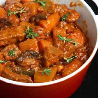 Savory Slow Cooked Beef Stew.