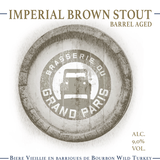 Imperial brown stout barrel aged