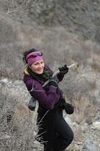Photo: Evelina bekopiant į kalną.  Evelina while hiking up the mountains.