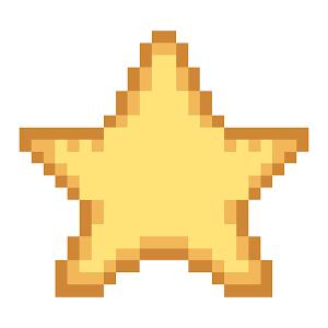 Pixel Star Stock Vector 519583042 - Shutterstock  |Pixel Star