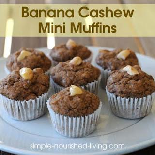 Banana Cashew Mini Muffins Recipe