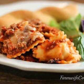 Slow Cooker Ravioli Casserole Recipe