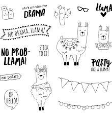 Simple Stories Carpe Diem Photopolymer Clear Stamps - No Prob-Llama