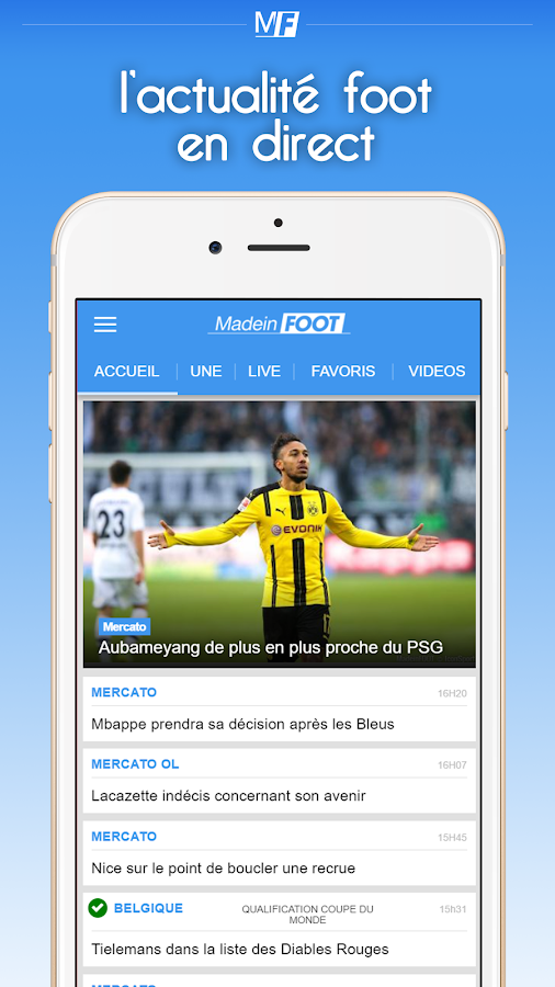 Foot : Infos, Mercato & Direct- screenshot