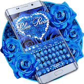 Blue Rose Petal Keyboard Android APK Download Free By Artant