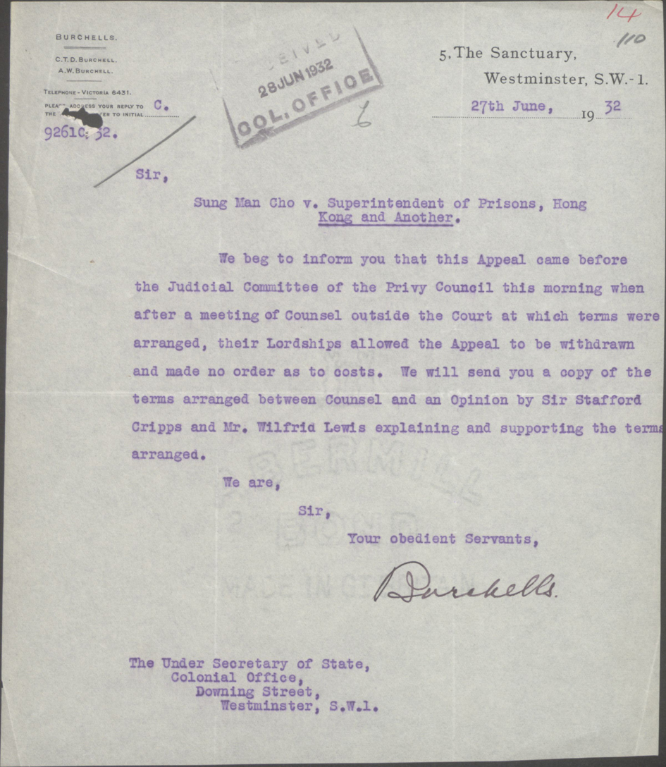 Letter from Burchells to Colonial Office 27-06-1932.jpg