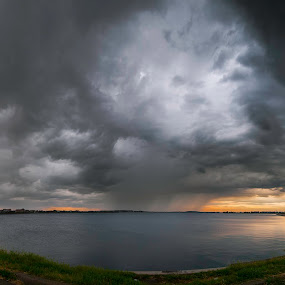 Storm is almost over by Petrea Ionut - Landscapes Cloud Formations ( clouds, heavy, landscape, storm, rain,  )