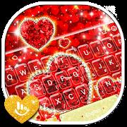 App Sparkling Glitter Red Golden Heart Keyboard Theme APK for Windows Phone