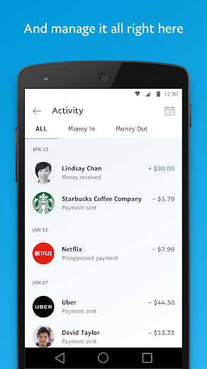 Screenshot 4 for PayPal's Android app'