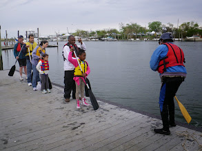Photo: Andy leads a brief instruction to canoeing.