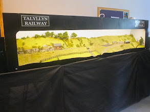 Photo: 114 Moving quickly into the second part of this report with plenty of layouts still to visit, we arrive at Tim Tincknell's 5.5mm scale 12 mm gauge Tallylyn Railway, which depicts Abergynolwyn station circa 1865 .
