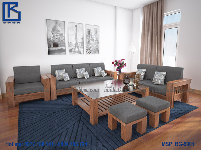 Bàn ghế gỗ phòng khách BG-9901
