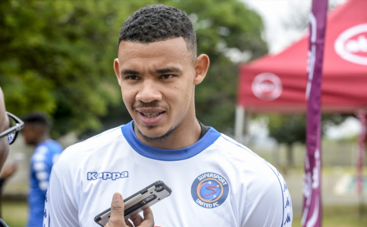 Ronwen Williams of SuperSport United during the SuperSport United media open day at Megawatt Park, Sunninghill on November 29, 2018 in Johannesburg, South Africa.