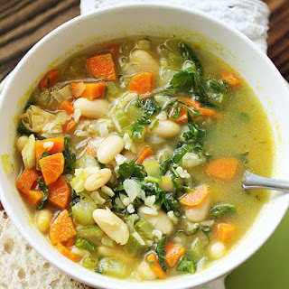 White Bean and Rice Vegetable Soup