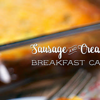 Sausage and Cream Cheese Breakfast Casserole.