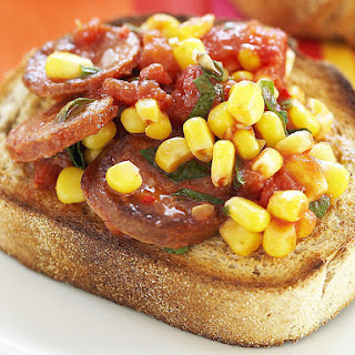 Fried Chorizo with Tomatoes and Corn