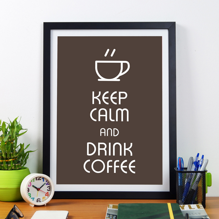 Keep Calm And Drink Coffee | Framed Poster by Artwave Asia