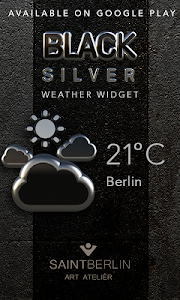 Black Digital Clock Widget v2.40