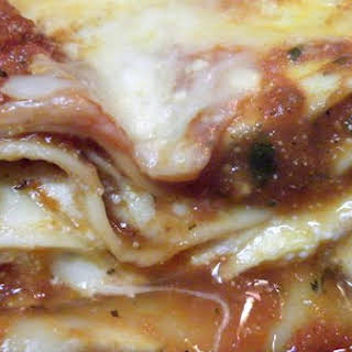 Three Cheese Roasted Red Pepper Lasagna.