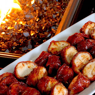 Bacon Wrapped BBQ Chicken Bites.