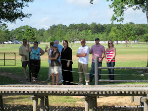 Photo: Crowds at Gazibo birthday parties watching the trains go by.   HALS 2009-0620