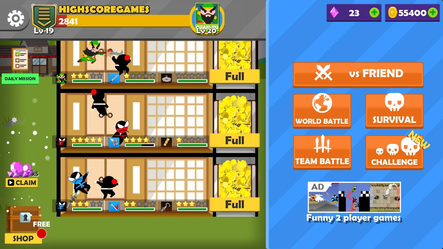 تحميل لعبة القفز معركة النينجا  APK -  العب مع الأصدقاء 5SlUfaxrujl1rGdqOyLktd6o4FZ64jr11J-CsBv1o78nb-ptOJmzr-siuZIDbwr9Ie0=h800
