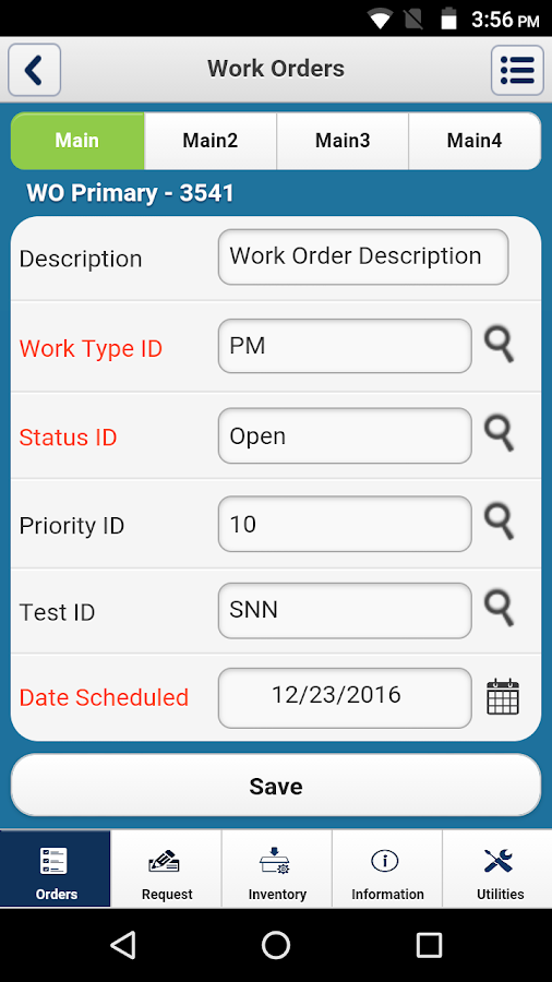 iMaint Mobile 4.1 for Android- screenshot