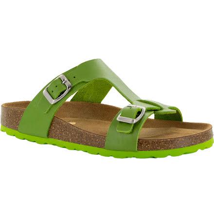 """Jill limegrön """"bio""""sandal med reglerbara spännen"""