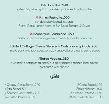 Rose Cafe menu 12