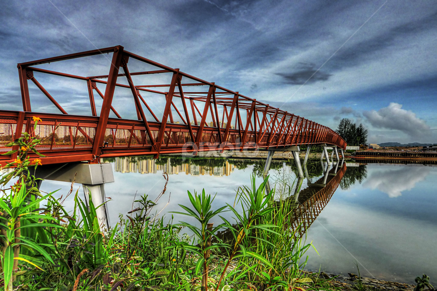 The Bridge Leading to Lor Halus Wetland by Joe Teh - Buildings & Architecture Bridges & Suspended Structures ( wetland, green, reclaim, lorong halus, singapore, punggol )
