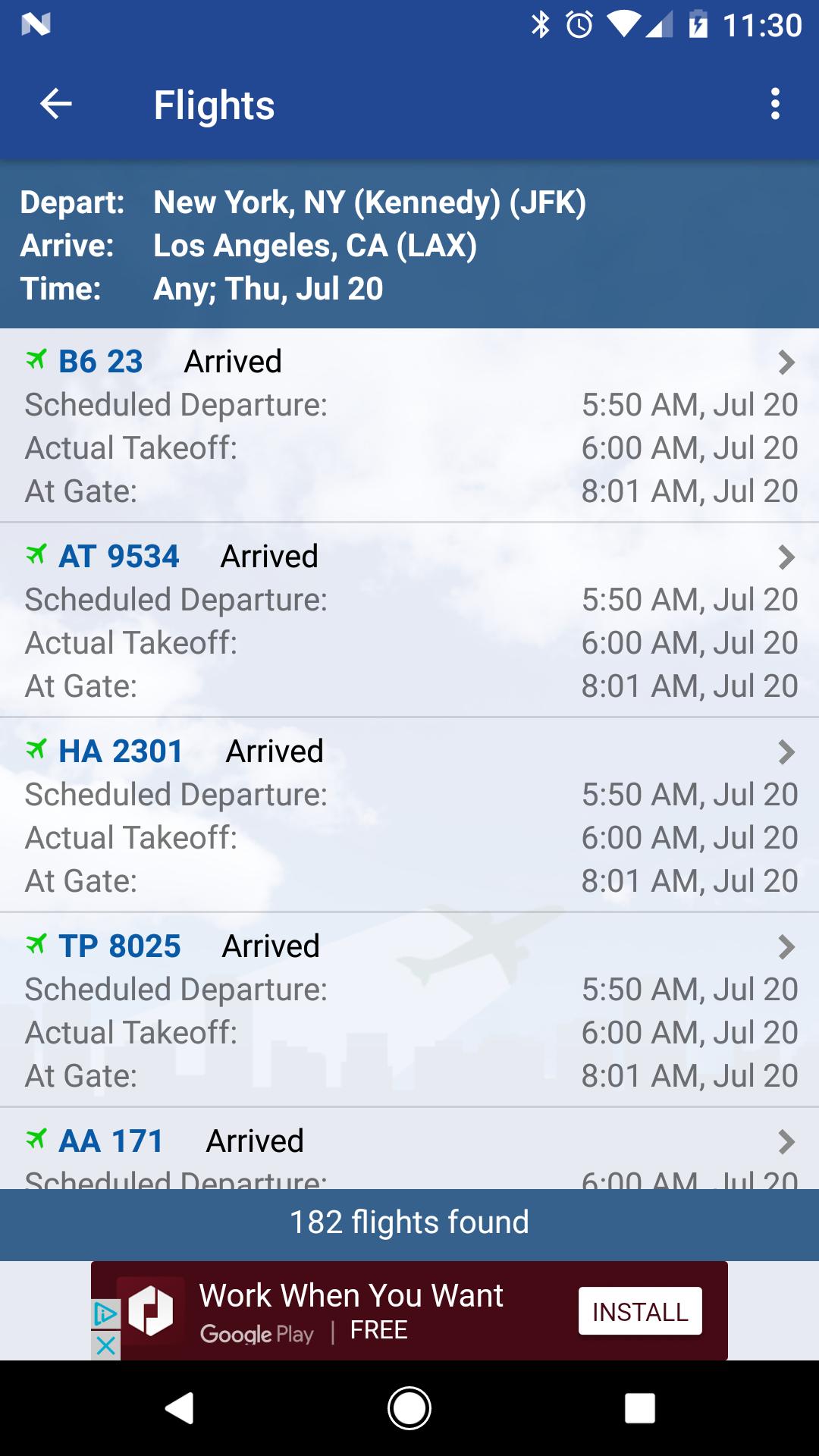 FlightView Free Flight Tracker screenshot #7
