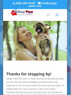 Sleepy Paws Pet Care- screenshot thumbnail