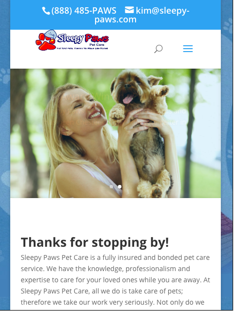 Sleepy Paws Pet Care- screenshot