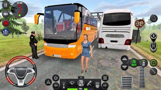 Modern Offroad Uphill Bus Simulator apkpoly screenshots 8
