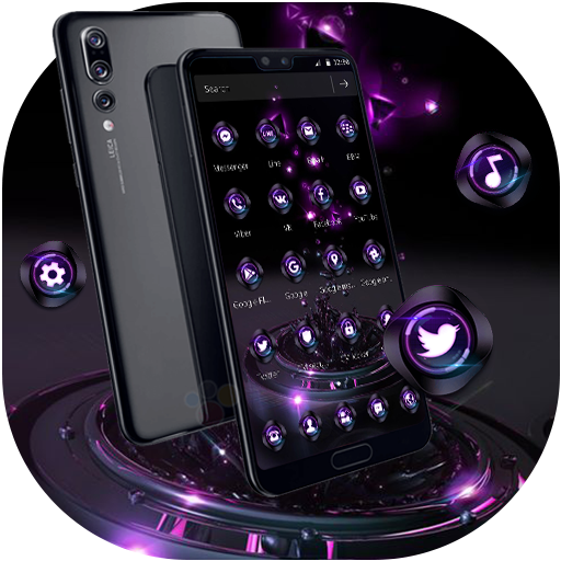 Violet Neon Tech Business Theme