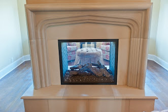 """Photo: bedroom fireplace with solus """"arch"""" mantel installed"""