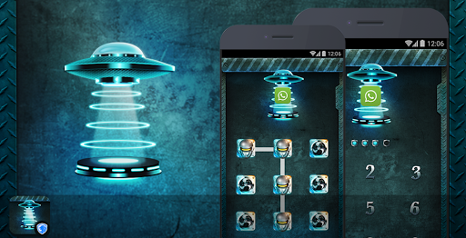 AppLock Theme - Alien Tech