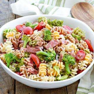 Broccoli and Salami Pasta Salad.