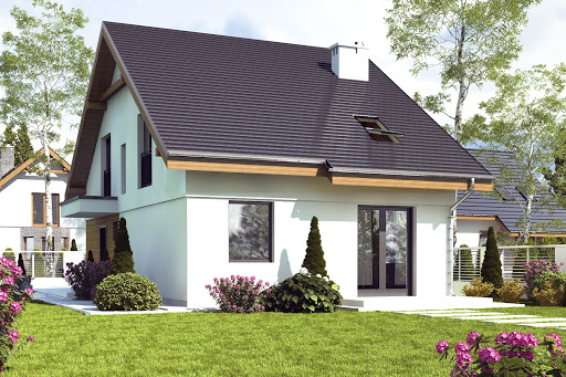 projekt Głuszec II z garażem 1-st. A