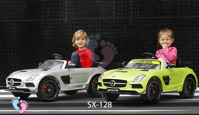 Xe hơi điện trẻ em SX-128 ghế da 5